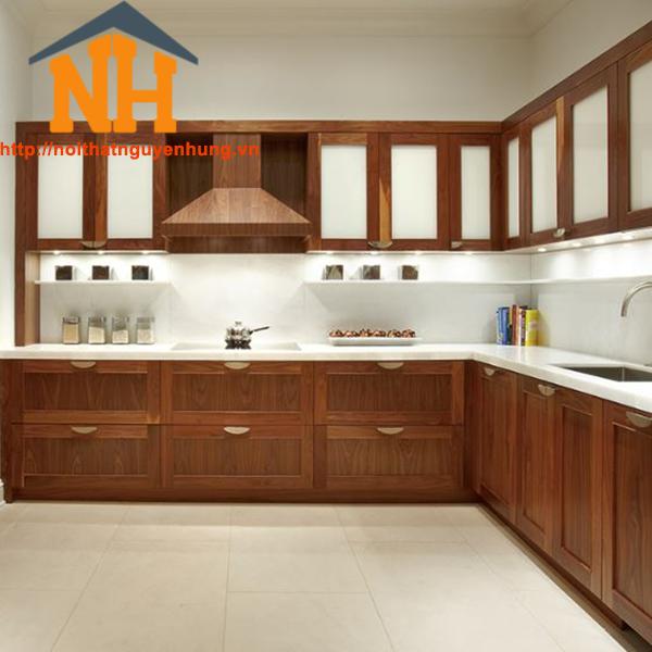 Tủ bếp gỗ cao cấp- NH06
